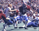 Marty Lyons Rushing Color w/' Roll Tide' Insc Autographed Photo (Hand Signed Collectable)