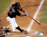 Lastings Milledge Swing Vs Pirates Autographed Photo (Hand Signed Collectable)