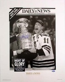 Mark Messier 94 Stanley Cup Replica Daily News Autographed Photo (Hand Signed Collectable)