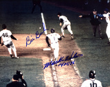 "Bill Buckner And Mookie Wilson Dual Autographed  Wilson Inscribed ""10-25-86"" Photograph"