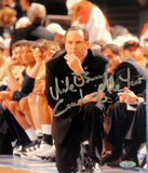 "Mike Brey Autographed ""Coach of the Year"" On His Knees On The Sidelines Signed Vertical Photo by Ph"