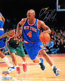 Chauncey Billups Autographed New York Knicks Dribble Up Court Vertical Photograph