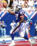 Rodney Hampton Autographed Giants TD Celebration Photograph