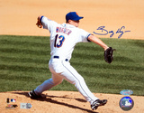 Billy Wagner Pitching Vs Marlins Autographed Photo (Hand Signed Collectable)
