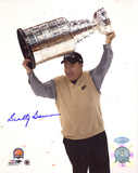 Scotty Bowman Autographed Cup Overhead Photograph