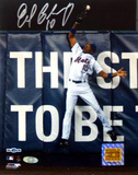 Endy Chavez Autographed 2006 NLCS Game Seven Robbing HR Photograph