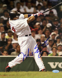 Manny Ramirez Autographed Vertical Swing Photograph
