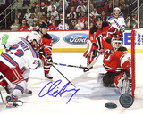 Chris Drury Autographed Game Tying Goal vs Devils Photograph