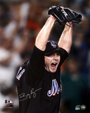 Billy Wagner Autographed NY Mets Arms Raised Photograph