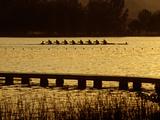 Crew Practice on Lake Banyoles