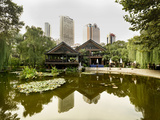 A Tea House in the Jing'An Park in Jing'An District  Shanghai  China