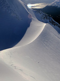 A Heli-Skier Takes a Creative Descent on the Last Run of the Day