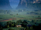 An Early Morning View of a Beautiful Valley in Cuba's Tobacco Region
