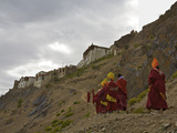 A Procession of Monks on Day 2 of the Karsha Gustor Festival