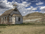 The Abandoned Catholic Church in the Alberta Badlands at Dorothy