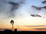 A Windmill in Evening Light in Southeastern Utah