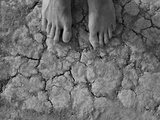 Dust Covered Feet on the Playa at Burning Man