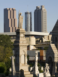 Morning Light on Tombs in the Oakland Cemetery with Atlanta Skyline