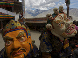 Masked Performers at the Karsha Gustor Festival