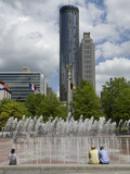 People Watching the Interactive Fountains at Centennial Olympic Park