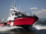 A 47-Ft Lifeboat of the Canadian Coast Guard Plies the Ocean Waters