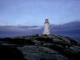 A Light House Near Peggy's Cove in Nova Scotia