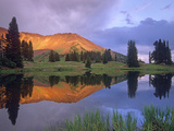 Mount Baldy at Sunset Reflected in Lake Along Paradise Divide  Colorado