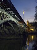 The Bridge of Triana  Puente De Triana  Illuminated at Night
