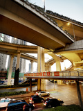 The Overlapping Lanes of the Yan&#39;An Elevated Highway in Shanghai