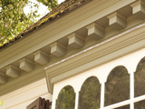 Dentil Molding on Roof Edge of Historic Colonial Williamsburg House
