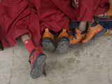 Western Boots on Three Young Monks at the Karsha Gustor Festival