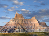 Sandstone Striations and Erosional Features  Badlands National Park  South Dakota