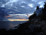 A Moody Sky over Bass Harbor Head Lighthouse at Sunset