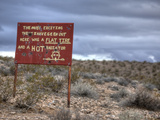 A Humorous Sign in the Desert