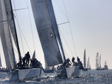 An International Yachting Race Near Victoria  British Columbia