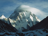 Wind Cloud over the Summit of K2  2nd Highest Peak in the World  Karakoram Mountains  Pakistan