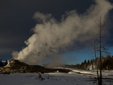 Steam Rising from Castle Geyser in Yellowstone National Park