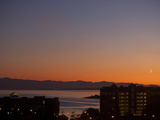 Sunset over the Mountains and Harbor of Victoria