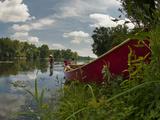 Canoe Along the Shore of the Potomac River
