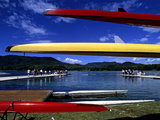 Crew Boats and Teams Along Lake Banyoles