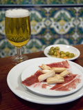 Tapas of Jamon Serrano and Olives at Taberna Coloniales in Seville