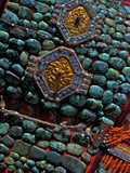 Detail of the Perak  a Turquoise Encrusted Hat Worn My Ladakhi Women