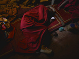 A Monk Resting During Day 2 of the Karsha Gustor Festival