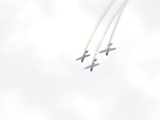 Yak 52Tw Aircraft Fly in Formation