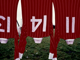 Soccer Sweaters on a Clothes Line