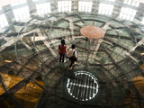 Two Women Walk across Glass-Floor in 1933 Shopping Center  Shanghai