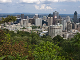 Birds Eye View of Montreal  Canada  from Mount-Royal Park