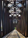 An Old Steel Bridge That Crosses the South Saskatchewan River