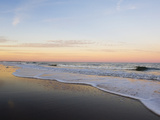 Surf at Sunset Off Fernandina Beach