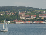 Sailboat on Lake of Constance Near Meersburg  Germany